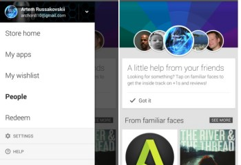 Google Play : comme un air de Google+ avec la section « People » sur Android