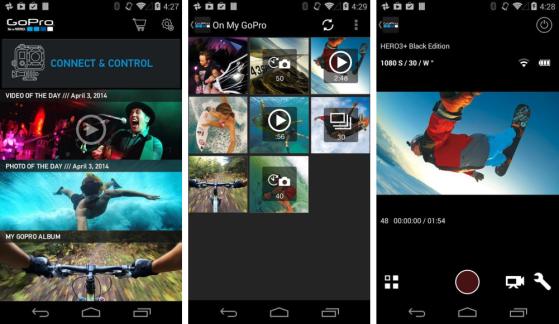 GoPro App 2.4 sur Android : nouvelle interface et connexion WiFi automatique