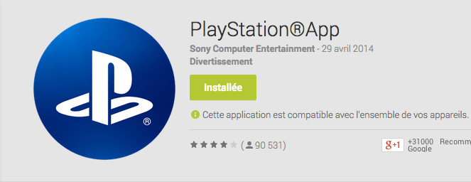 PlayStation App : les notifications en push arrivent sur Android