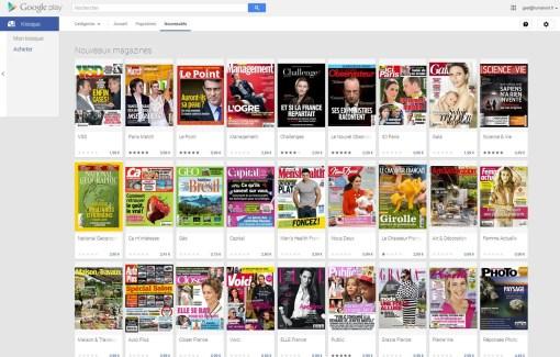 Google Play Kiosque propose désormais du contenu payant en France et en Allemagne