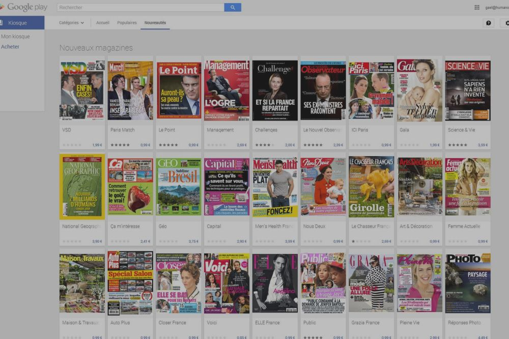 Comparatif des offres Kiosque : Google déjà sans concurrence