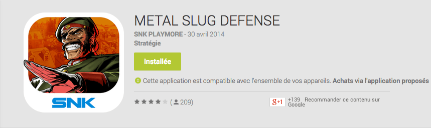 Metal Slug Defense : le nouveau Tower Offense|Defense attaque le Google Play