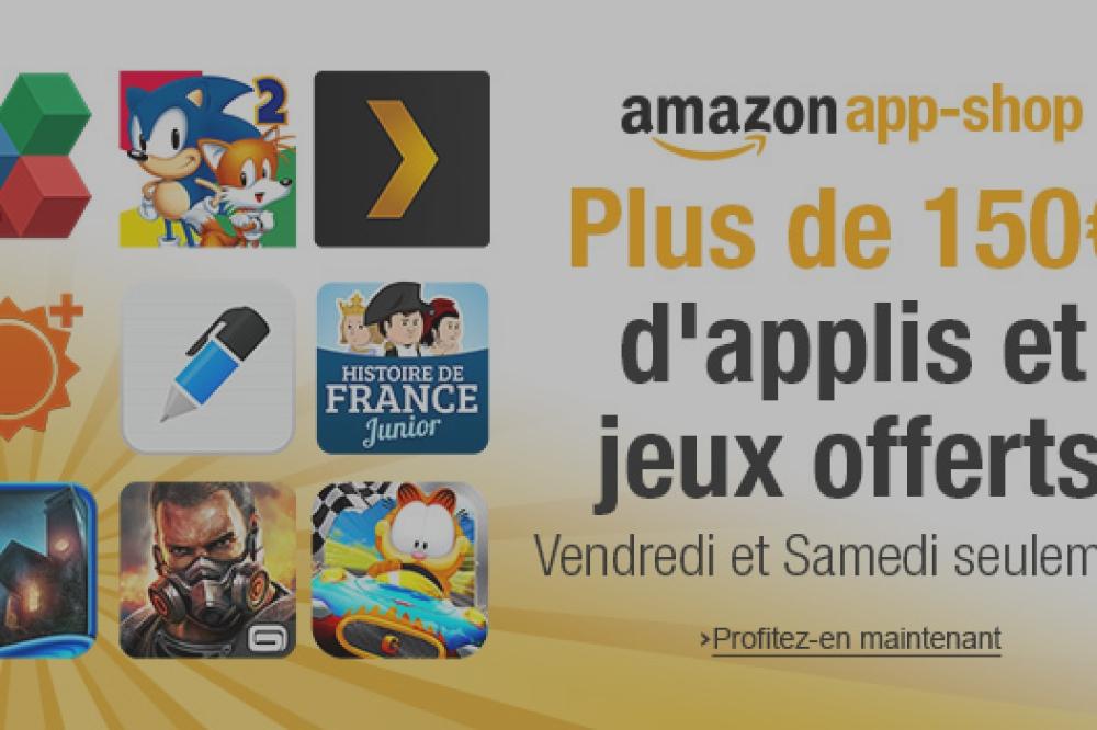 Soldes : Amazon offre 150 euros d'applications sur son App-Shop