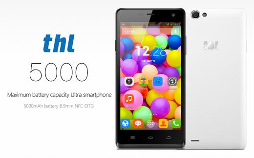 THL 5000, un smartphone doté d'une batterie de 5000 mAh