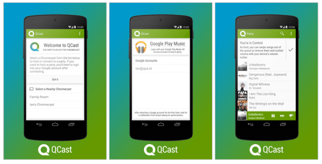 Qcast Music, la playlist musicale collaborative sur votre Chromecast
