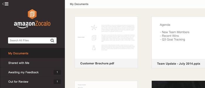 Amazon lance Zocalo, pour contrer Google Docs dans les entreprises