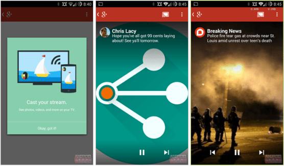 Google+ permet désormais de streamer des contenus via Chromecast