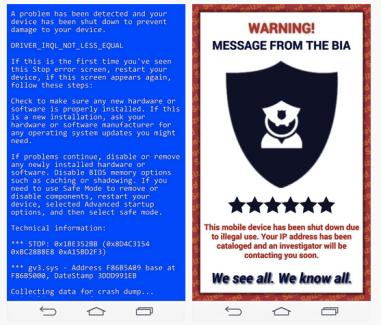 Comment piéger un ami avec le «Blue Screen of Death» ou un faux virus sur Android ?