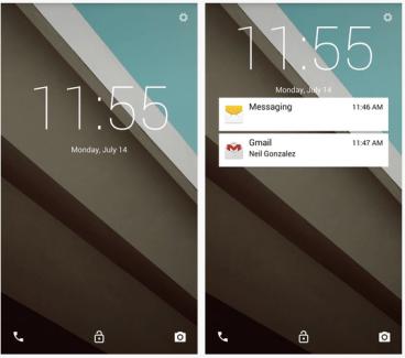 Comment installer l'écran de déverrouillage d'Android L sur le Galaxy S5 ?