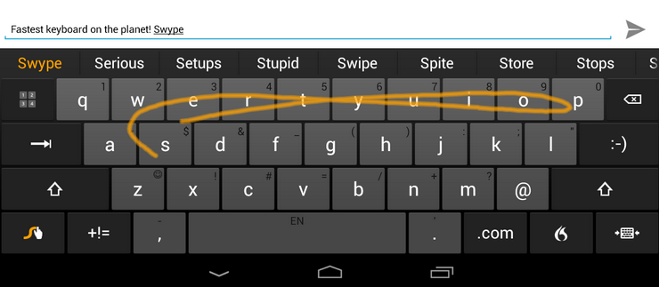 Swype Keyboard, un des meilleurs claviers alternatifs à seulement 75 centimes d'euros