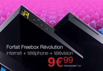 Bon plan : Freebox Révolution à 9,99 euros/mois pendant 1 an