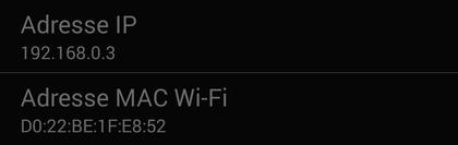 Comment connaître l'adresse IP et l'adresse MAC sur Android ?
