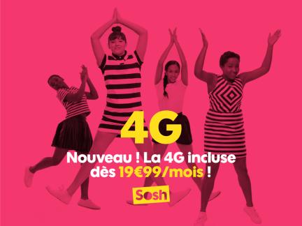 Sosh : la 4G pose définitivement ses valises dans le forfait à 19,99 euros