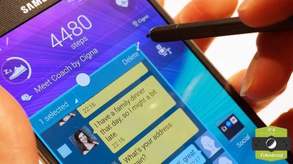 Samsung Galaxy Note 4, vidéo de prise en main