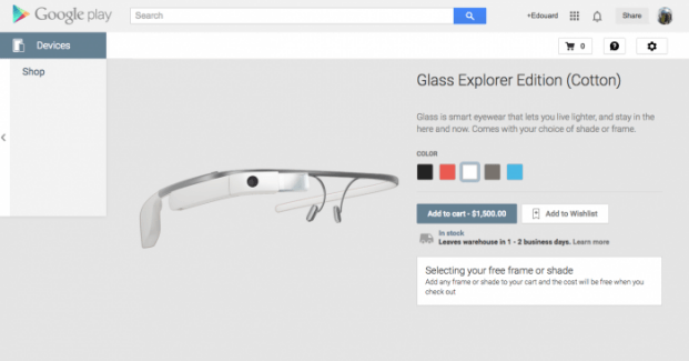 Google Glass : elles font leur entrée sur le Google Play et la version grand public sera commercialisée en 2015