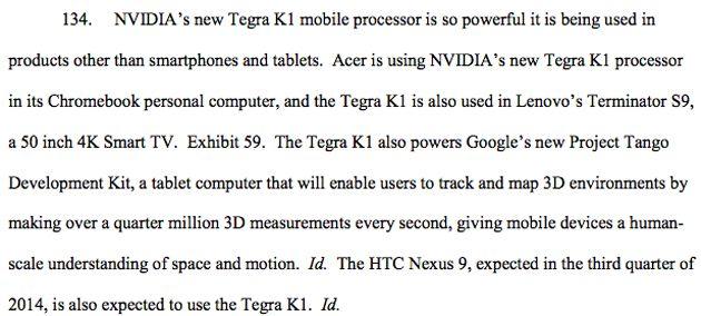 Nvidia aurait-il confirmé sans le vouloir l'existence de la HTC Nexus 9 ?
