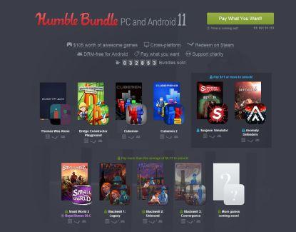 Humble Bundle 11 : 10 jeux sur Android et PC à prix (presque) choisi