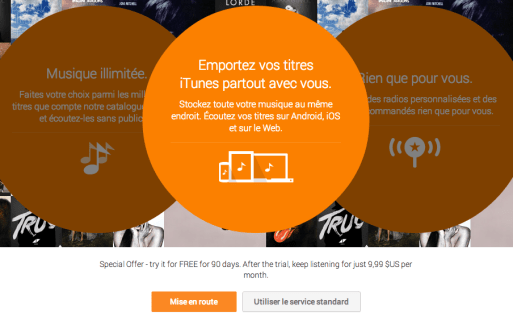 Google Play Music All Access : testez 90 jours gratuitement