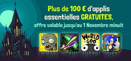 Amazon fête Halloween avec 100 euros d'applications offertes