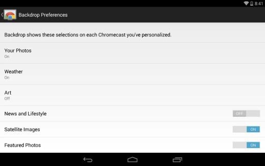 Chromecast s'ouvre à la personnalisation avec Backdrop