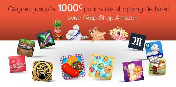 Amazon fait la promotion de l'App Shop en proposant un bon d'achat de 1000 euros