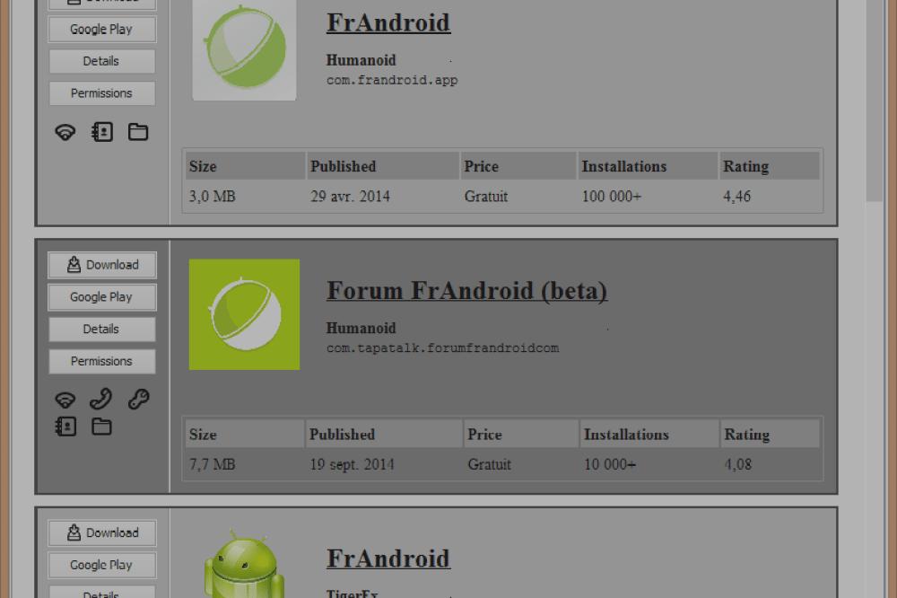 Raccoon est la meilleure façon de télécharger des .apk directement depuis le Play Store