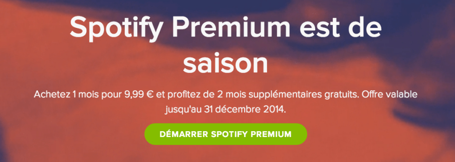 Spotify est généreux pour Noël, mais surtout aux USA