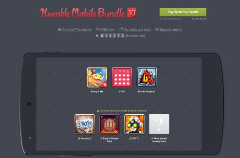 Humble Mobile Bundle 10 : Sorcery 2, Lyne et OTTTD à prix choisi