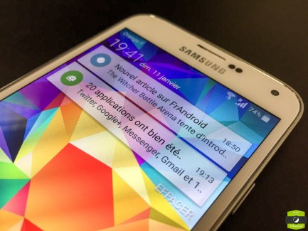 Samsung Galaxy S5 : Lollipop est arrivé, et voici les changements qu'il apporte