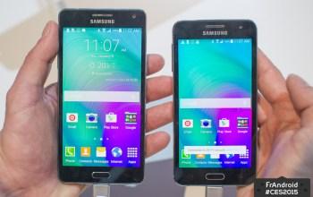 Prise en main des Samsung Galaxy A3 et A5, tout en aluminium