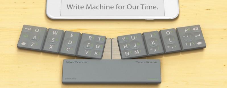 TextBlade : le mini clavier pliable Bluetooth à emporter partout