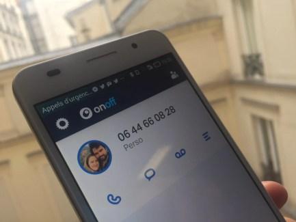 onoff, et votre numéro de téléphone s'affranchit de votre opérateur