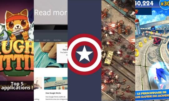 Les apps de la semaine : Naughty Kitties, Blinkist, Minimal Wallpapers, Epic War TD 2 et Sonic Dash