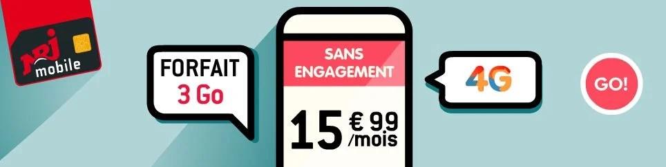 NRJ Mobile lance un forfait personnalisable en appels et data...