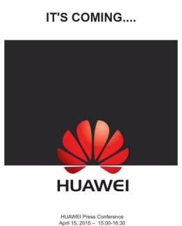 Huawei envoie ses invitations pour sa conférence du 15 avril
