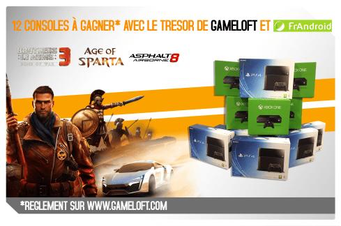 Jeu-concours : FrAndroid et Gameloft vous font gagner des consoles de jeu