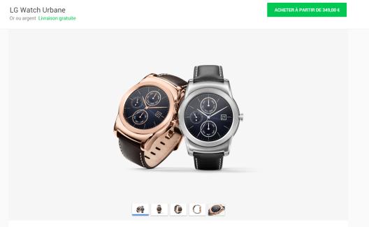 Google Store : la Watch Urbane disponible et baisse de prix de la Moto360