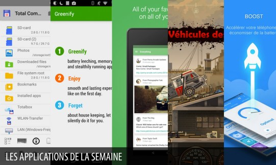 Les apps de la semaine : Total Commander, Greenify, Pushbullet, Earn to Die 2, 360 Security – Antivirus Boost