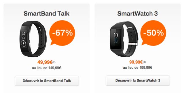 Bon plan : le Smartband talk à 49,99 euros et la SmartWatch 3 à 99,99 euros