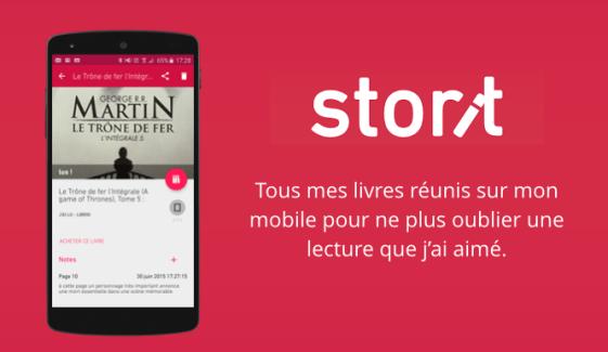 Avec l'application Android Storit, gardez le fil de vos lectures