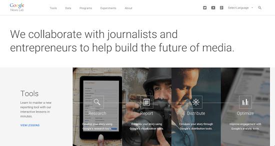 Google News Lab : une initiative en direction des journalistes et des entrepreneurs