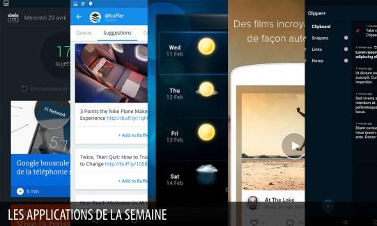 Les apps de la semaine : La Matinale du Monde, Buffer…
