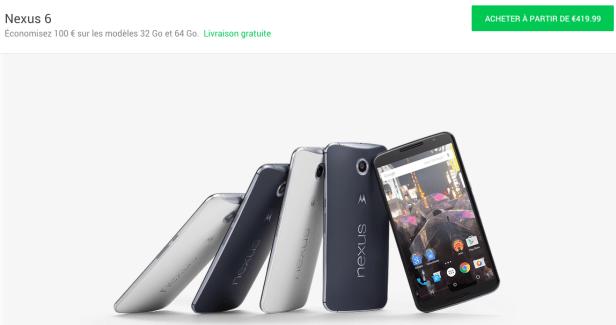 Bon plan : Le Google Nexus 6 est disponible à partir de 419 euros