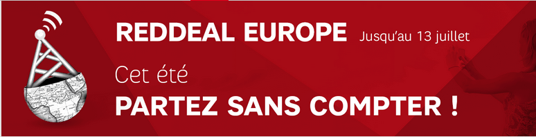 REDDEAL Europe : SFR RED offre du roaming jusqu'au 13 juillet