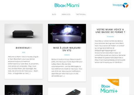 Bouygues Telecom : un blog dédié pour montrer qu'il ne délaisse pas la Bbox Miami