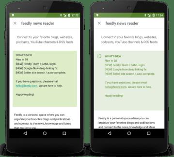 Le Google Play Store peaufine légèrement son interface dans sa version 5.7.6 (APK)