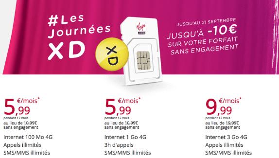 Bon plan : Virgin Mobile casse les prix sur ses forfaits jusqu'au 21 septembre