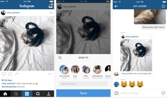 Instagram Direct se met aux fils de conversations