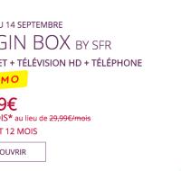 Bon plan : jusqu'à ce soir, la Box ADSL Virgin Mobile est en promo à 1,99 euros par mois pendant 1 an