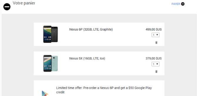 Importer les Nexus 5X et 6P des États-Unis : ce qu'il faut savoir